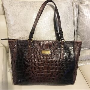 Brahmin  croc leather tote shoulder bag
